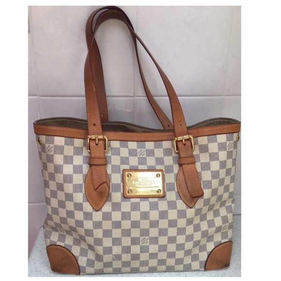 Louis Vuitton Handbags - Louis Vuitton Damier Azur Hampstead MM Tote Bag 8adbfd5ee4